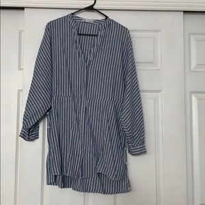 Striped Zara Tunic with cute button detailing